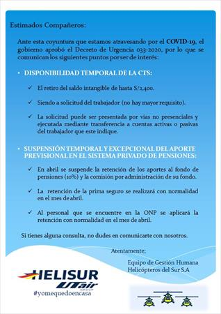 Disposiciones sobre AFP / CTS - abril´20